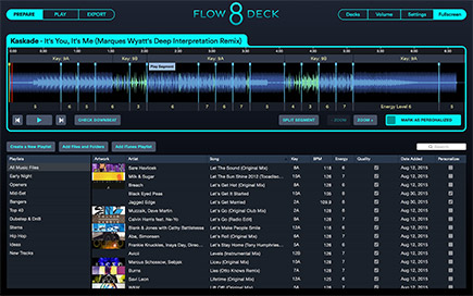 Flow 8 Deck Prepration Screen