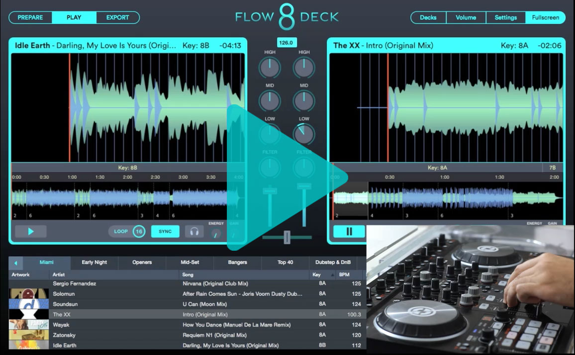 Play House Music with Flow 8 Deck Video